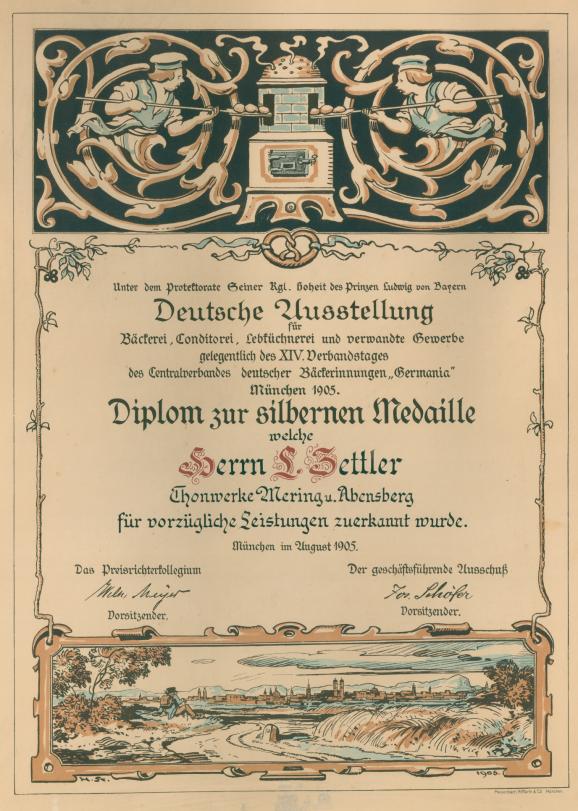 Urkunde Brotbackofen